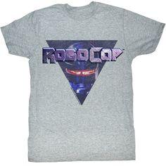 Robocop Science Fiction Action Movie Detroit City Landscape Adult T Shirt