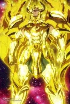 Armadura de ouro de touro divina