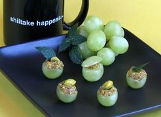 grapes stuffed with pistachios!