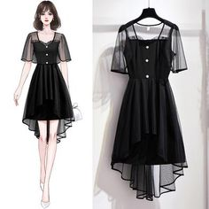 Pretty Outfits, Cute Outfits, Girl Outfits, Dress Outfits, Short Sleeve Dresses, Sexy Dresses, Dresses With Sleeves, Girl Fashion, Fashion Outfits