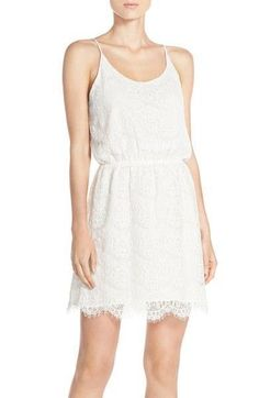 Charles Henry Lace Blouson Dress Extra Small White $78 FTC #4085