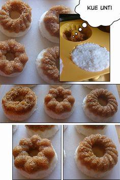 Ketan Unti  ketan met romige kokos , pandan bladeren en snufje zout koken tot het geheel dik is. Af laten koelen en creatief toevoegen bij de UNTI <<<