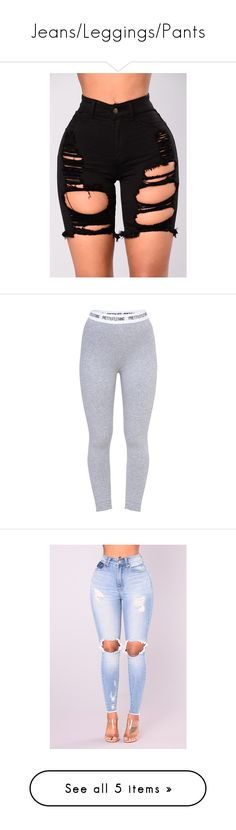 """""""Jeans/Leggings/Pants"""" by princeton-baybeh ❤ liked on Polyvore featuring shorts, destroyed shorts, high waisted destroyed shorts, ripped bermuda shorts, high waisted cotton shorts, high waisted bermuda shorts, pants, leggings, wide-waistband leggings and waistband pants"""