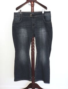a03b0c1fae34c Angels Jeans Plus 24W Stretch Denim Bootcut Flare Jeans Flap Pockets   Angels Stretch Denim