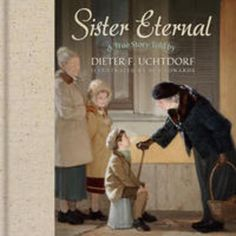This is the true story of Elder Uchdorf.    His life in war-torn Czechoslovakia, his family's move to his grandparents home in Germany, and how is family was introduced to the gospel by an elderly, single sister named Ewig, which translated means Sister Eternal.    Beautifully illustrated for telling to children.