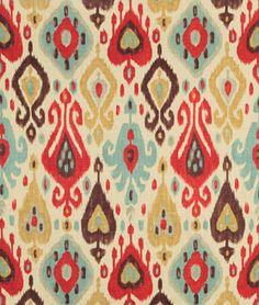 GOT THIS for 1 chair, what coordinates? Shop Richloom Django Persia Fabric at onlinefabricstore.net for $17.95/ Yard…