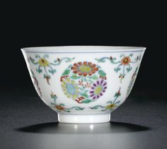 A doucai 'floral' winecup, Mark and period of Yongzheng Asian Vases, Oriental Flowers, Painted Leaves, Chinese Ceramics, Chinese Antiques, Fine Porcelain, Asian Art, Tea Pots, Auction