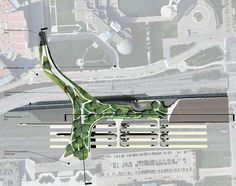Gallery of Lakefront Station / Cerver Design Studio - 10 Architecture Portfolio, Concept Architecture, Architecture Design, Architecture Diagrams, Pedestrian Bridge, Site Plans, Urban Furniture, Urban Planning, Museum Of Modern Art