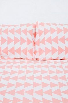 Arrowhead Duvet Set in Peach