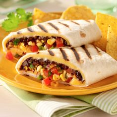 Southwest Black Bean & Corn Grilled Wraps