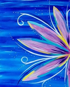 canvas painting inspiration #flower #art