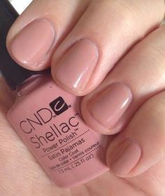 CND Shellac Satin Pyjamas... Around 1. Week wear.... Perfect nude *love*