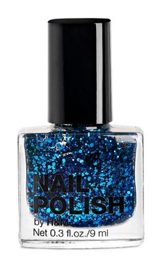 H&M Blue Did I Tell You Glitter Nailpolish
