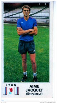 panini football 77 1977 lyon ol olympique lyonnais Aimé Jacquet 110 Lyonnaise, Football Soccer, Legends, Club, Picture Cards, Athlete, Persona, World, Accessories