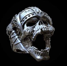 Viking Skull Silver 925 Ring Ring - Eye Makeup tips Skull Jewelry, Jewelry Rings, Silver Jewelry, Silver Rings, Skull Rings, 925 Silver, Diamond Jewelry, Jewelery, Sterling Silver