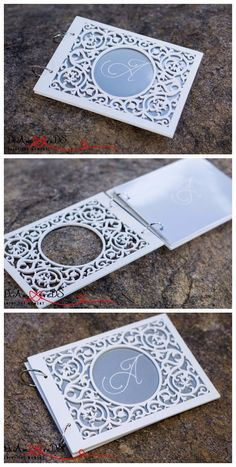 Wedding Wood Lace Guestbook