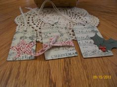 Rustic Gift Tags set of 3 by ScrapHappyMama on Etsy, $2.95