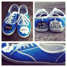 The Fault in Our Stars by John Green. DIY hand painted TFIOS shoes