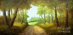 Wood Path Painting by Luciano Torsi