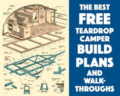 Free teardrop build plans More Camper, trailor, camping