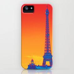 Psychedelic Eiffel Tower iPhone Case by Lynn Bolt - $35.00