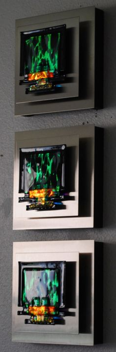 Elizabeth Dunlop's Abstract, Contemporary Fused Glass Creations and Watercolor Paintings