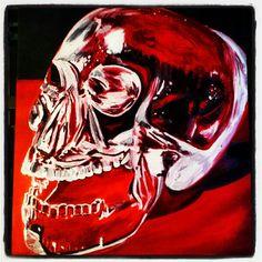 Original Crystal Skull oil painting by KaptainMyke.
