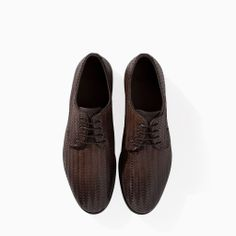 Image 2 of BRAIDED LEATHER BLUCHER from Zara
