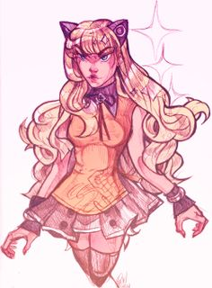 SeeU as requested by apple kin. I'm sorry i got her outfit wrong! I'm not used to drawing her