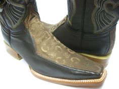 MEN'S BROWN LEATHER BOOTS DESIGNER WESTERN FANCY COWBOY RODEO EXOTIC ROCK STAR Mens Designer Boots, Brown Leather Boots, Rodeo, Cowboy Boots, Westerns, Exotic, Fancy, Stars, Best Deals