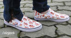 Ahh #Bacon como te amo! Vou mostrar pra todo mundo nesse #calçado! #amor #geek #delicia  Para comprar: http://oirgeek.iluria.com/