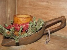 "Add some ""Old World"" Christmas your decor.  Our Primitive Christmas Treenware Large Scoop with Handle is a reproduction and looks as though it has been used by many generations.  http://www.primitivestarquiltshop.com/Primitive-Christmas-Treenware-Large-Scoop-with-Handle-_p_6526.html  $21.95"