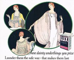 Lux advertising art, 1920s