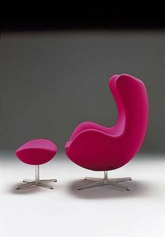 Arne Jacobsen Egg Chair-- Love this, especially in hot pink!