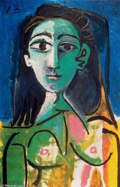 """Portrait of Jacqueline""~ Pablo Picasso love it... websites for artists for $4.95 a month www.artistwebsitepro.com"
