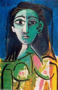 """""""Portrait of Jacqueline"""" by Pablo Picasso #art"""