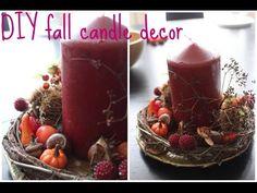 DIY fall candle decor