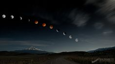 The phases of the Blood Moon Eclipse, April 15th 2014.  It was a long night photographing all the phases of the eclipse in the Shasta Valley with my friend and mentor Sean Bagshaw. Go take a look at his photo on this natural event http://500px.com/photo/67361001  This was my first time ever shooting anything like this, so it was a learning experience no doubt.
