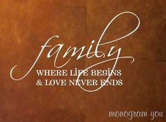 Family Vinyl Wall Decal on Etsy, $17.95