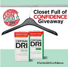 Certain Dri® Closet Full of Confidence  Giveaway Win $1000 EasyClosets GC  #CertainDriConfidence #sponsored http://madamedeals.com/?p=492063 #inspireothers