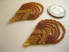 Zea Mays. Beaded Earrings. Brick Stitch Earrings. Beadwork Earrings. on Etsy, $35.00