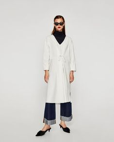 OVERSIZED V-NECK DRESS-Midi-DRESSES-WOMAN | ZARA Ireland
