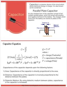 An awesome infographic about Capacitor, based on a tutorial posted by student at MyCollegePal Forum for Tutorial and Solution-Physics. http://www.mycollegepal.com/forum/tutorial-and-solution-physics