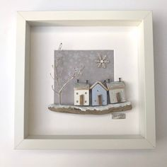 Excited to share this item from my shop: Winter decor driftwood wall art, framed little wooden houses ideal winter birthday gift Painted Driftwood, Driftwood Wall Art, Driftwood Crafts, Small Wooden House, Wooden Houses, Box Frame Art, Coin Couture, Shadow Box Art, Christmas Wood