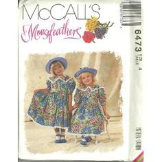 Childrens And Girls Dress (McCall's Sewing Pattern 6473, Size: 4)