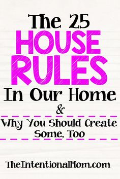 Do you have a set of house rules? If not, they can be a valuable part of any…