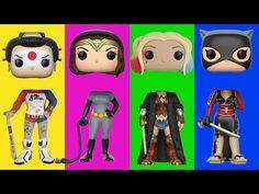 Wrong Heads For Kids Pop Heroes Figures #1 Harley Quinn Family Song Nursery Rhymes Kids Hangout - YouTube