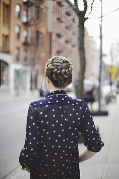 Braids + polka dots = spring time perfection