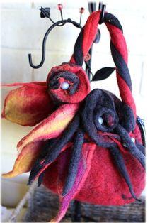 Firestorm hand felted bag