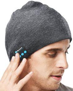 b7038c779d8 XIKEZAN Unisex Bluetooth Beanie Smart Winter Knit Hat Wireless Musical  Headphones Earphones w  2 Speakers Beanies Hats Cap Unique Christmas Tech  Gifts for ...
